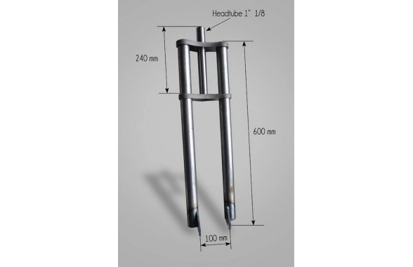 Triple tees fork round tube for hub 100mm