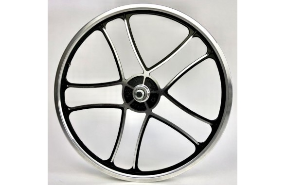 Front Wheel OPC 20 inch I - Cross black silver with Disk mount