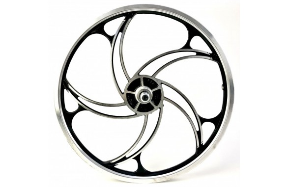 Rear Wheel OPC 20 inch Hurricane black silver with Disk mount free wheel