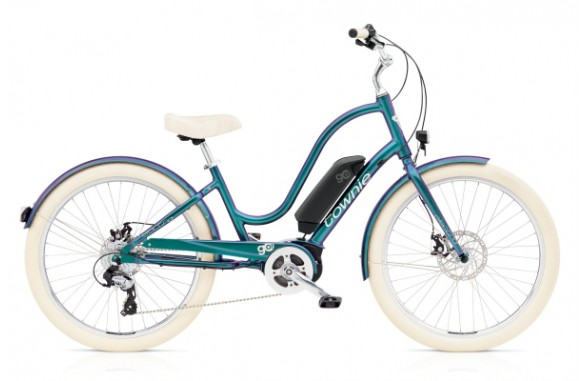 Townie Go! 8D / LADIES / Aurora Metallic / Brass Satin / Cosmic Grey