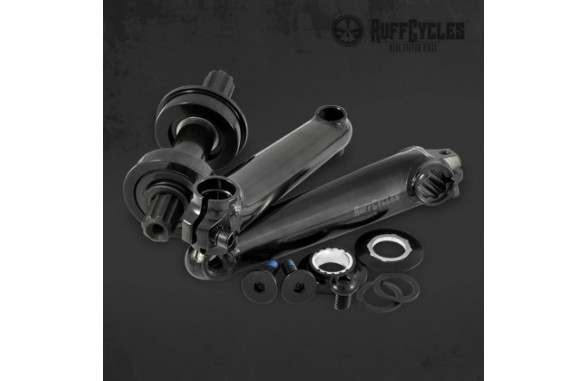 Ruff Crankset 3-Piece 140mm/175mm BMX/US - Black/CP